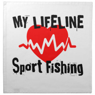 My Life Line Sport Fishing Sports Designs Napkin