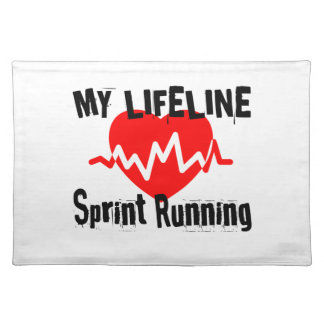 My Life Line Sprint Running Sports Designs Placemat