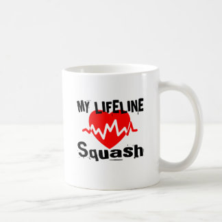 My Life Line Squash Sports Designs Coffee Mug