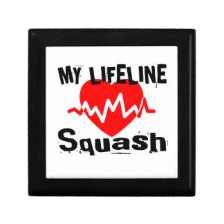 My Life Line Squash Sports Designs Gift Box