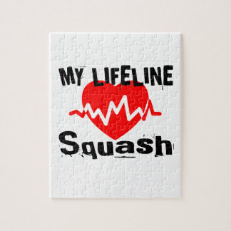 My Life Line Squash Sports Designs Jigsaw Puzzle