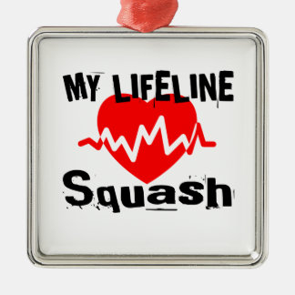 My Life Line Squash Sports Designs Metal Ornament