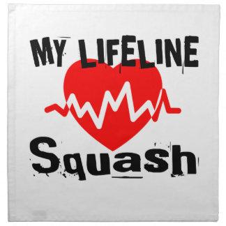 My Life Line Squash Sports Designs Napkin