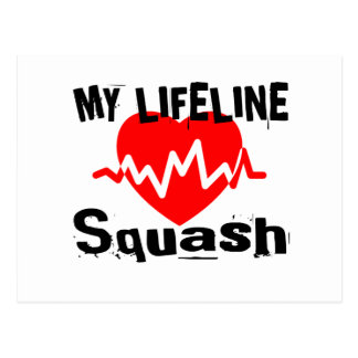 My Life Line Squash Sports Designs Postcard