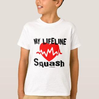 My Life Line Squash Sports Designs T-Shirt