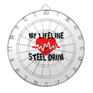 MY LIFE LINE STEEL DRUM MUSIC DESIGNS DARTBOARD