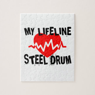 MY LIFE LINE STEEL DRUM MUSIC DESIGNS JIGSAW PUZZLE