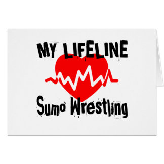 My Life Line Sumo Wrestling Sports Designs Card
