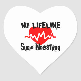 My Life Line Sumo Wrestling Sports Designs Heart Sticker