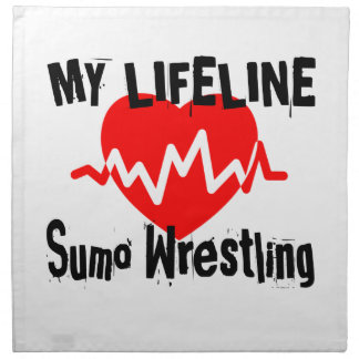 My Life Line Sumo Wrestling Sports Designs Napkin