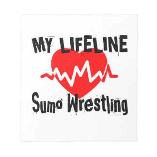 My Life Line Sumo Wrestling Sports Designs Notepad