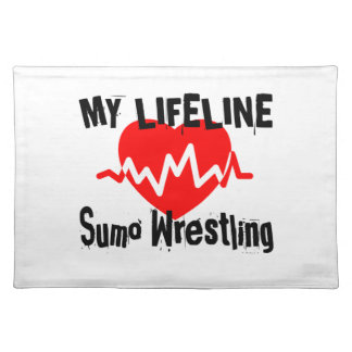 My Life Line Sumo Wrestling Sports Designs Placemat