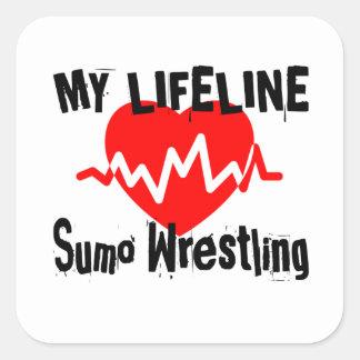 My Life Line Sumo Wrestling Sports Designs Square Sticker