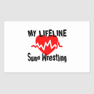 My Life Line Sumo Wrestling Sports Designs Sticker