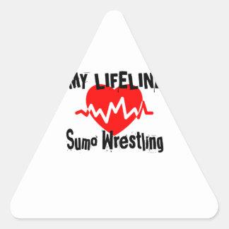 My Life Line Sumo Wrestling Sports Designs Triangle Sticker