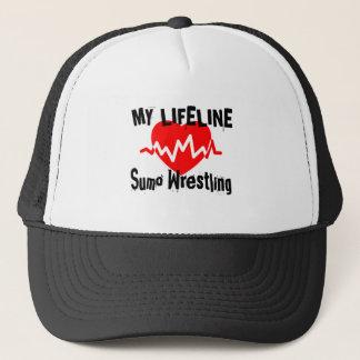 My Life Line Sumo Wrestling Sports Designs Trucker Hat