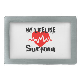 My Life Line Surfing Sports Designs Belt Buckles