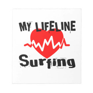 My Life Line Surfing Sports Designs Notepad