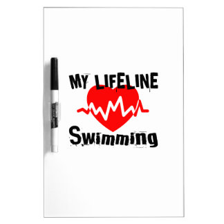 My Life Line Swimming Sports Designs Dry Erase Board