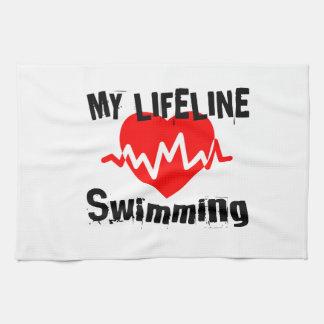 My Life Line Swimming Sports Designs Kitchen Towel