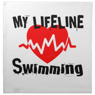 My Life Line Swimming Sports Designs Napkin
