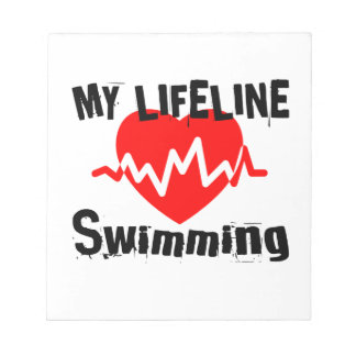 My Life Line Swimming Sports Designs Notepad