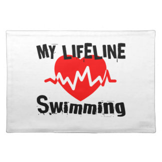 My Life Line Swimming Sports Designs Placemat
