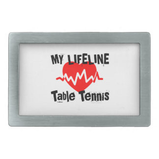 My Life Line Table Tennis Sports Designs Belt Buckle