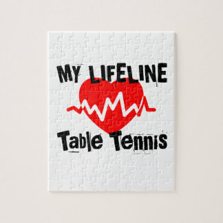 My Life Line Table Tennis Sports Designs Jigsaw Puzzle