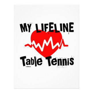 My Life Line Table Tennis Sports Designs Letterhead
