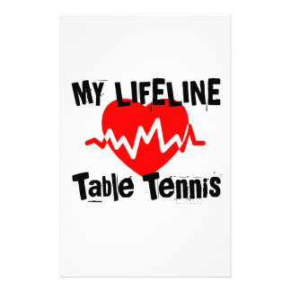 My Life Line Table Tennis Sports Designs Stationery