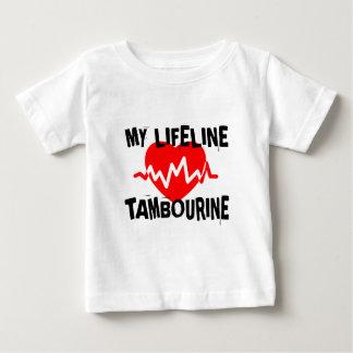 MY LIFE LINE TAMBOURINE MUSIC DESIGNS BABY T-Shirt