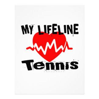 My Life Line Tennis Sports Designs Letterhead