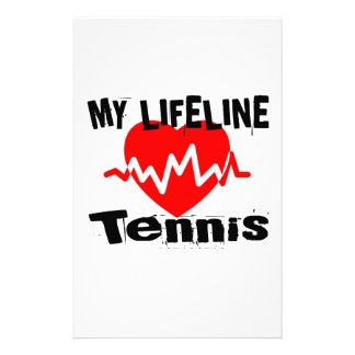 My Life Line Tennis Sports Designs Stationery
