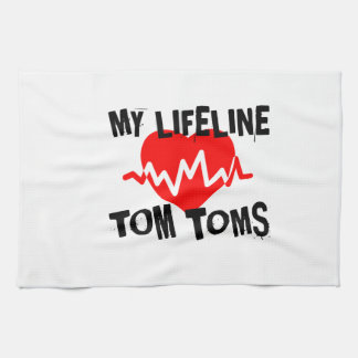 MY LIFE LINE TOM TOMS MUSIC DESIGNS KITCHEN TOWEL