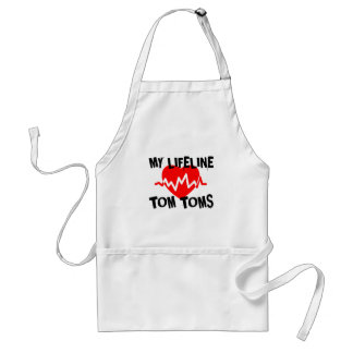 MY LIFE LINE TOM TOMS MUSIC DESIGNS STANDARD APRON