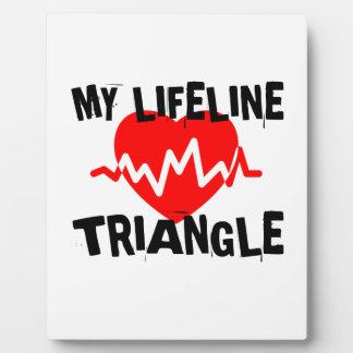 MY LIFE LINE TRIANGLE MUSIC DESIGNS PLAQUE