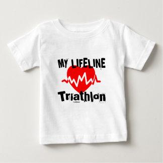 My Life Line Triathlon Sports Designs Baby T-Shirt