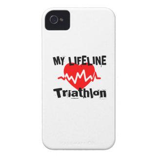 My Life Line Triathlon Sports Designs iPhone 4 Cover