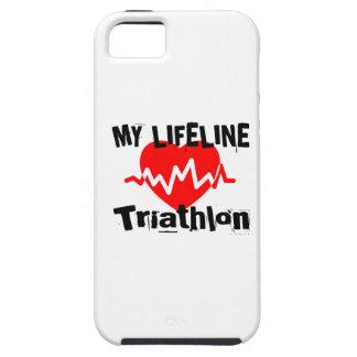 My Life Line Triathlon Sports Designs iPhone 5 Covers