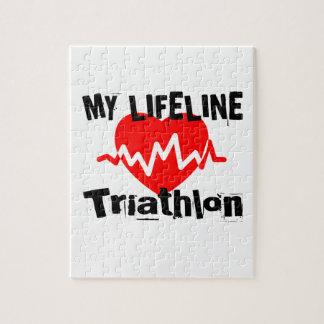My Life Line Triathlon Sports Designs Jigsaw Puzzle