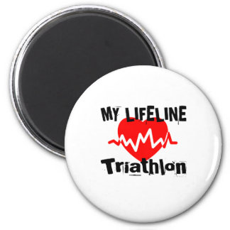 My Life Line Triathlon Sports Designs Magnet
