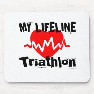 My Life Line Triathlon Sports Designs Mouse Pad
