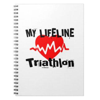 My Life Line Triathlon Sports Designs Notebooks