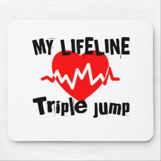 My Life Line Triple jump Sports Designs Mouse Pad