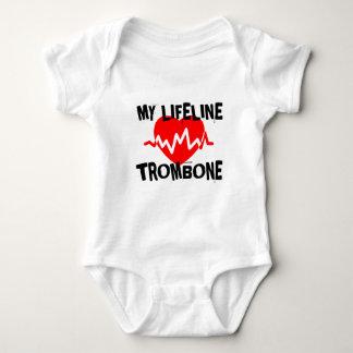 MY LIFE LINE TROMBONE MUSIC DESIGNS BABY BODYSUIT