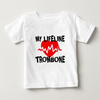 MY LIFE LINE TROMBONE MUSIC DESIGNS BABY T-Shirt