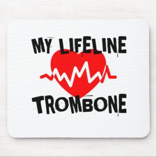 MY LIFE LINE TROMBONE MUSIC DESIGNS MOUSE PAD