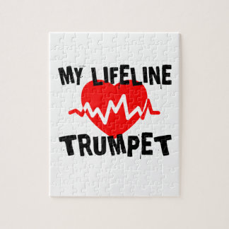 MY LIFE LINE TRUMPET MUSIC DESIGNS JIGSAW PUZZLE