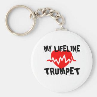 MY LIFE LINE TRUMPET MUSIC DESIGNS KEYCHAIN